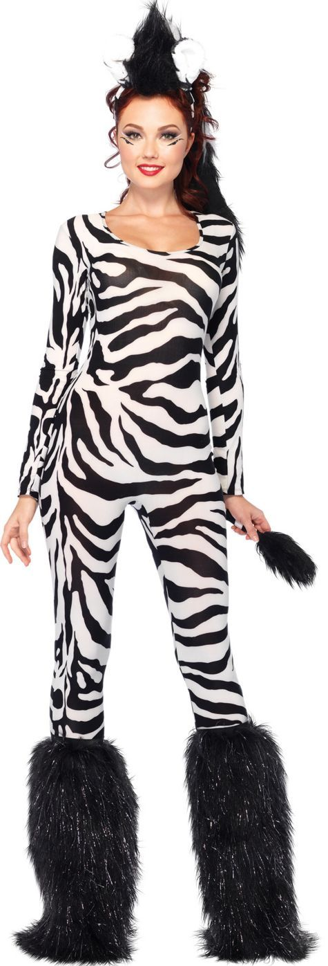 Adult Wild Zebra Costume - Party City