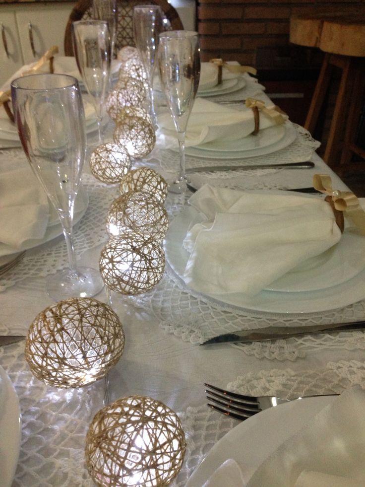 Decoração de mesa Ano Novo