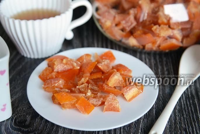 Цукаты из грейпфрута Вода 500 мл Вода Грейпфрут 2 шт. Сахар 3 ст. л.