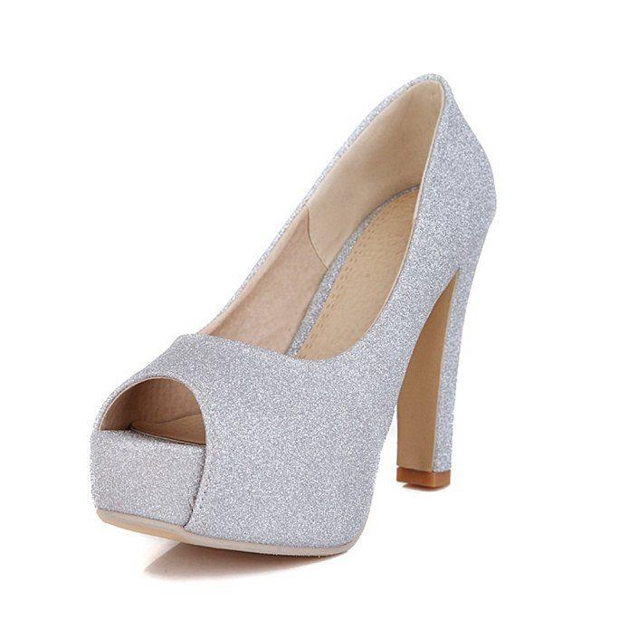 Ladies Chunky Heels Platform Bridal Imitated Leather Boots