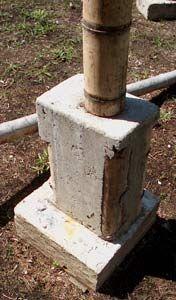 Columna empotrada