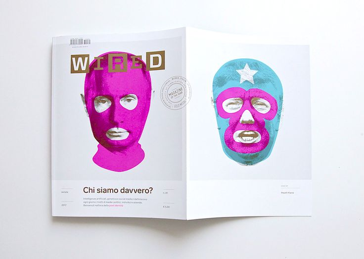 Masks of Fear: A look at Wired Italy's conspicuous cover | The Book Design Blog