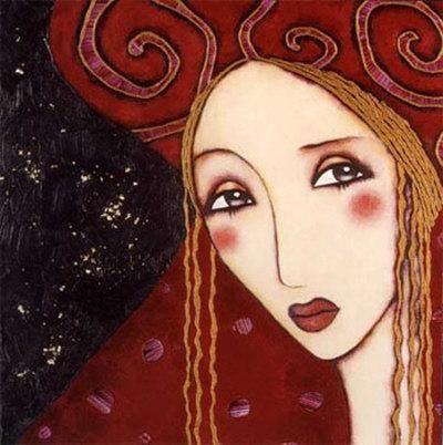 Carla Art Print by Corinne Reignier