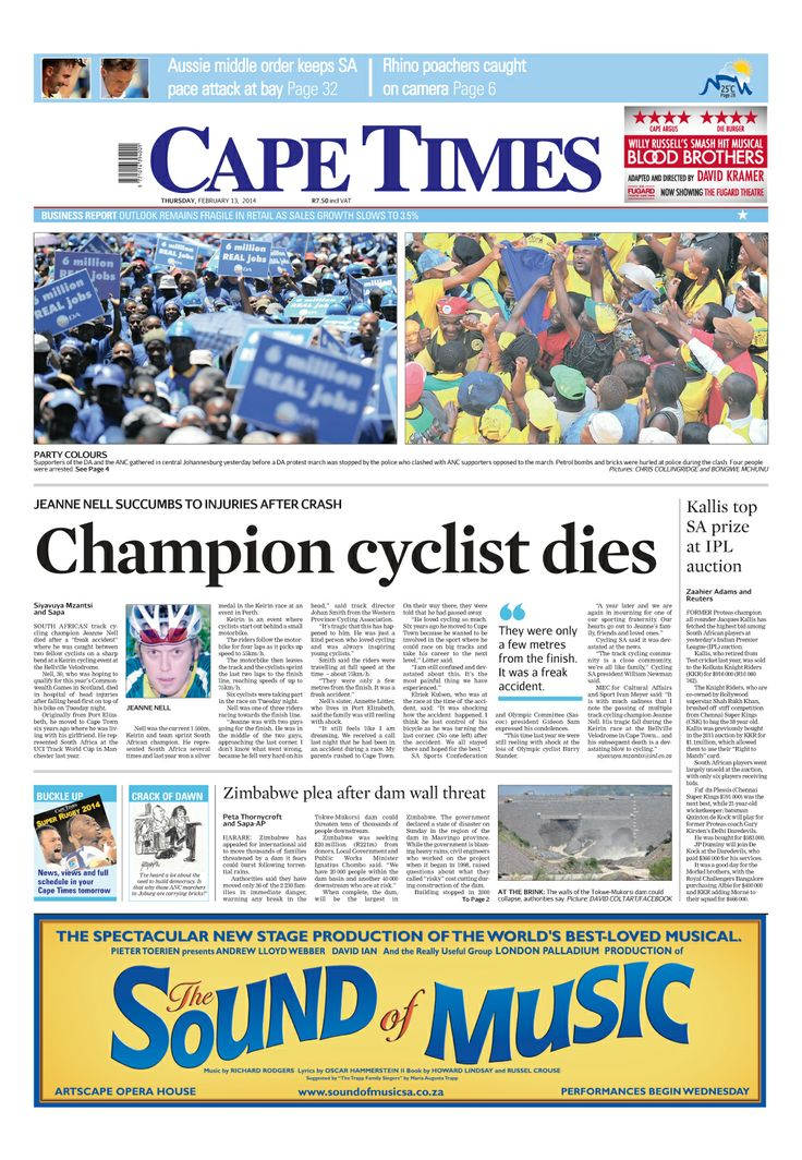News making headlines: Champion cyclist dies