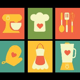 Decoração de cozinha simples ou moderna - Vintage Cozinha II - Decoração Vintage