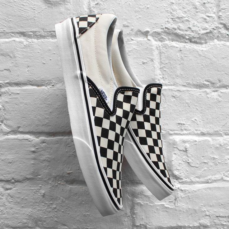 Vans Classic Slip-On - Checkerboard - Black White