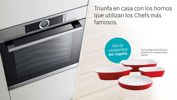 BOSCH - Set de recipientes de regalo Por la compra de un horno o de un horno compacto de la Serie 8 http://www.materialdirecto.es/es/26-hornos#/fabricante-bosch