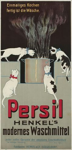 Persil Vintage advert poster cats