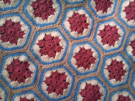 Roses in the Snow- crocheted handmade couch/bed throw