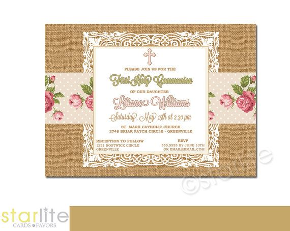 38 best First Communion Invitations - Girls images on Pinterest - best of invitation english