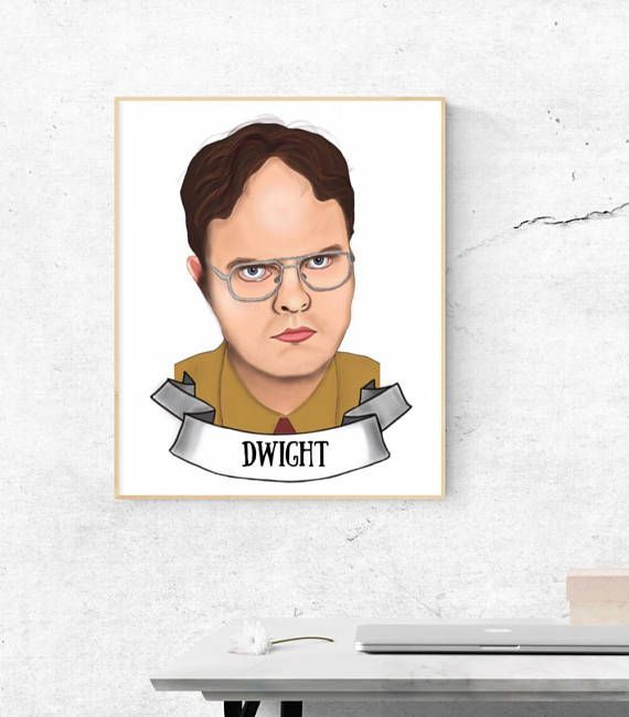 Illustrated portrait Dwight Scrute The Office digital