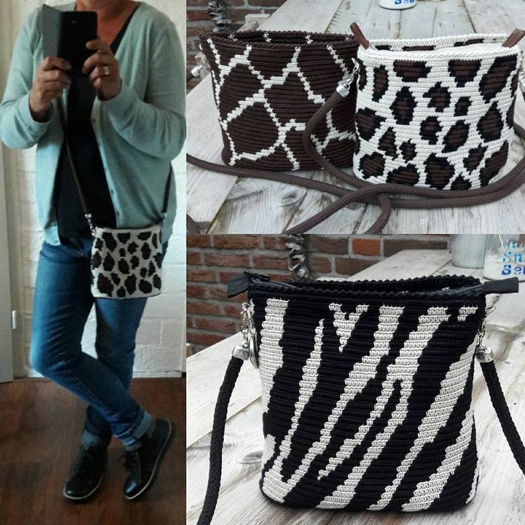 Animal print Mochila bag