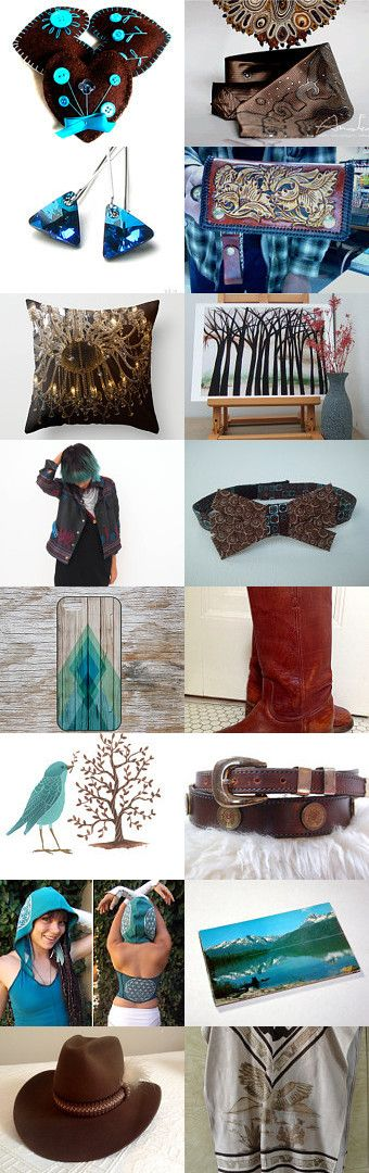 Treasury of Allatai:brown and turquoise duet by Alla Taisheva on Etsy--Pinned with TreasuryPin.com