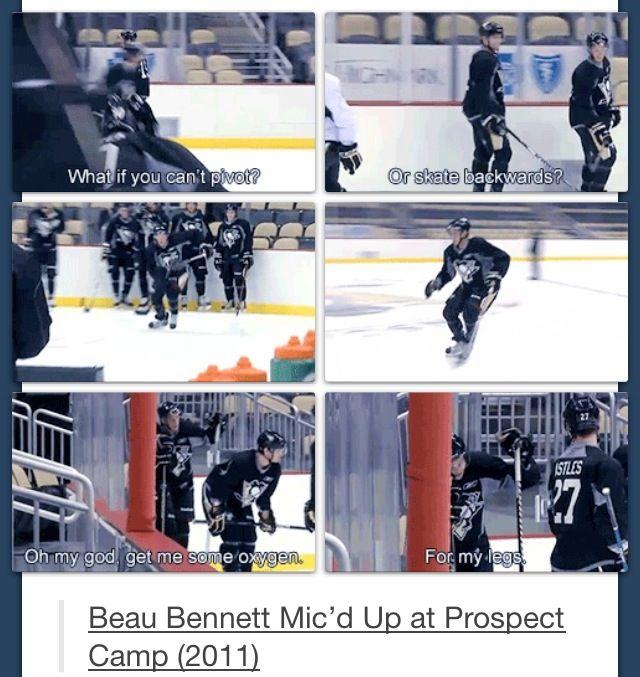 """Beau Bennett --  """"Oh my god. Get me some oxygen for my legs."""" Ahahaha!"""
