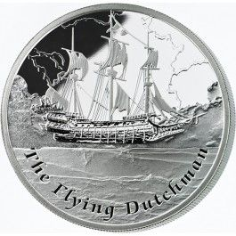 Back in stock! 2013 #Famous #Ships That Never Sailed #Flying #Dutchman 1oz #Silver #Coin. A phantom ship believed to foreshadow disaster to superstitious sailors, the Flying Dutchman was immortalised by German composer Richard Wagner in the opera of its name, Der fliegende Holländer.