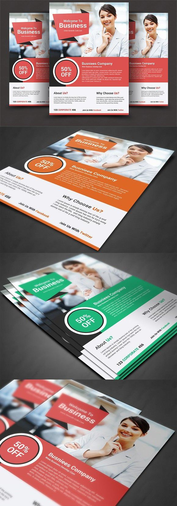 Business Essentials Corporate Flyer. Flyer Templates. $6.00