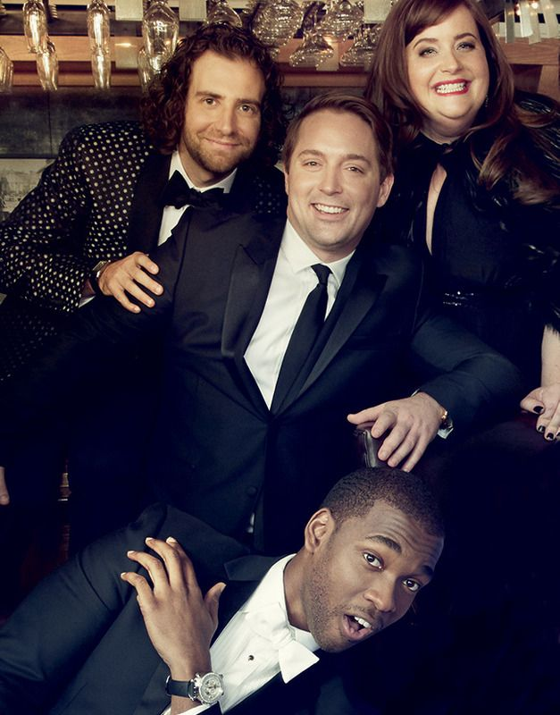 Very much ready for prime time: Kyle Mooney, Beck Bennett, Aidy Bryant, and Jay Pharoah.