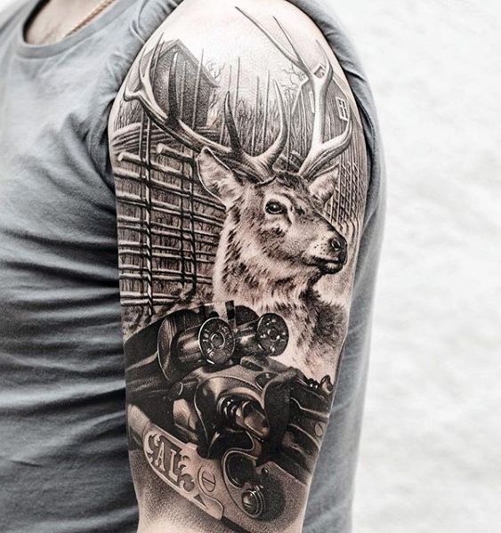75 Sweet Tattoos For Men – Cool Manly Design Ideas – Stags