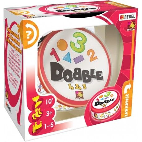 Dobble 1 2 3 Gra dla Dzieci od lat 6 - w Instrukcji znajduje się aż 5 różnych Mini Gier w tym najpopularniejsza Gąsienica.   Wygrywa osoba, która jako pierwsza pozbędzie się wszystkich swoich kart.  Czy w Grę mogą grać dorośli? Sprawdźcie sami:)  http://www.niczchin.pl/gry-edukacyjne-dla-dzieci/3127-dobble-1-2-3-gra.html  #dobble123gra #graedukacyjna #grydladzieci #zabawki #niczchin #krakow