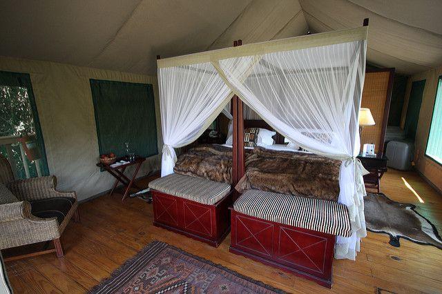 Bed in our tent at Botlierskop | Botlierskop Private Game Re ...