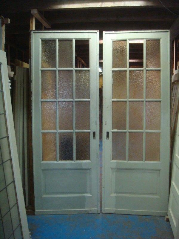 nr. 180 grote ensuite deuren met ruitjes, gebobbeld glas
