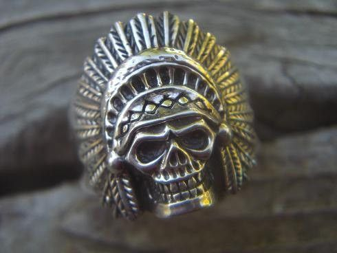 Indian Skull Ring by Billy Rebs $99
