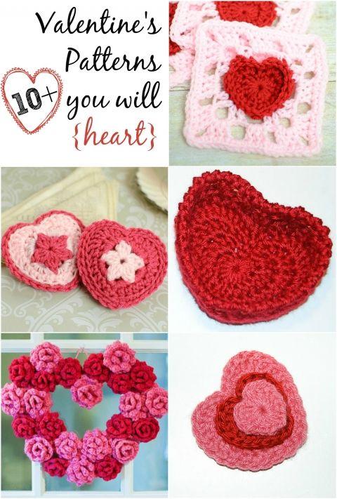 free valentines crochet patterns || http://www.petalstopicots.com/free-crochet-patterns/holiday/valentines-day-crochet-patterns/