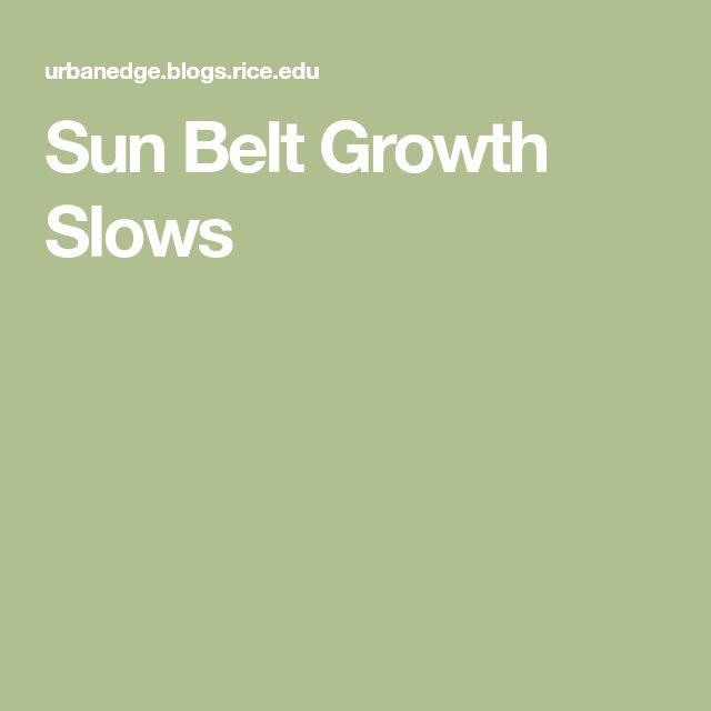 Sun Belt Growth Slows