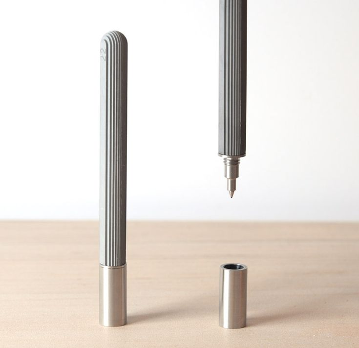 concrete rollerball pen by 22 design studio at designboom shop