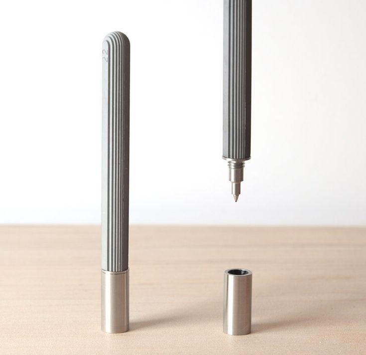 concrete rollerball pen by 22 design studio