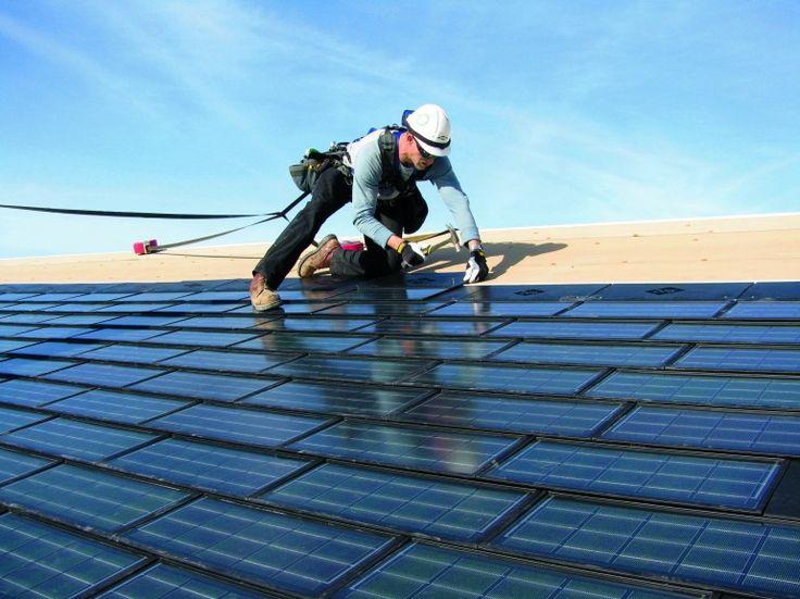 Solar Shingles are installed like regular asphalt shingles