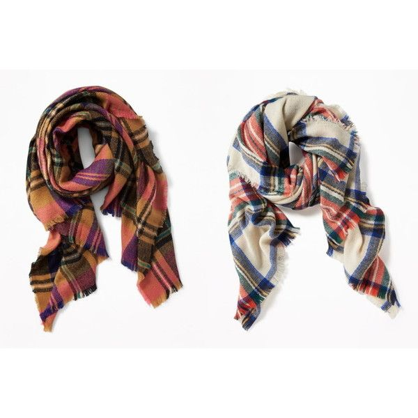 Old Navy Flannel Blanket Scarves, Only $11.50 + Free Shipping on... ❤ liked on Polyvore featuring accessories, scarves, old navy and old navy scarves