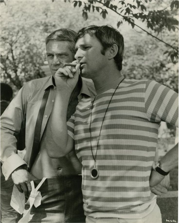 Happy 91st, Norman Jewison. With Steve McQueen on the set of The Thomas Crown Affair (1968).