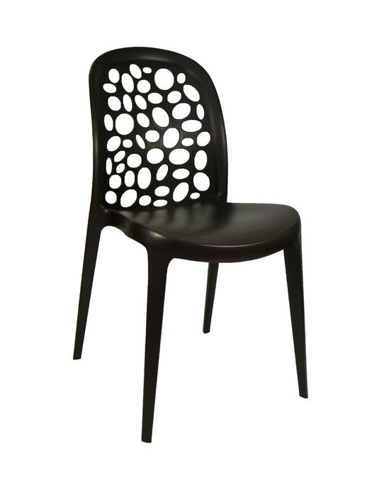 Grace Outdoor Stackable Dining Chair Chocolate