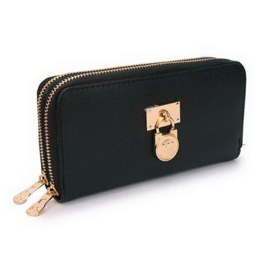 2017 new Michael Kors Hamilton Continental Lock Large Black Wallets on sale  online, save up to 90% off dokuz limited offer, no tax and free shipping.