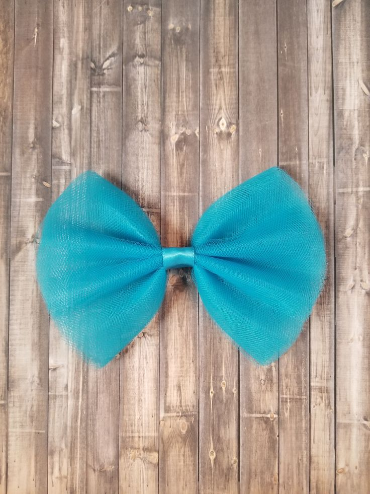 Blue Tulle Hair Bows, Tulle Hair Clip, Spring Hair Bow, Tulle Hair Bows, Tulle Hair Clip Big, Tulle Hair Accessories, Bows for Buns by MrsSaraGBoutique on Etsy