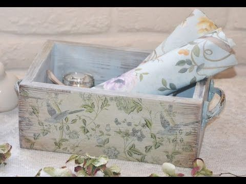 Декор и декупаж короба в стиле Прованс: вебинар и мастер-класс Оксаны Пахомовой - YouTube