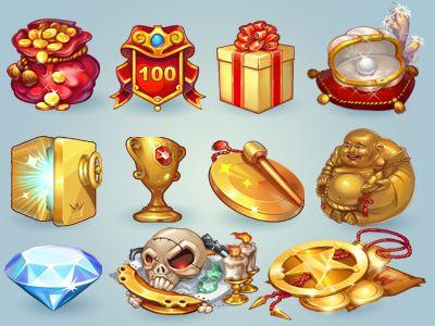иконки к игре on Behance