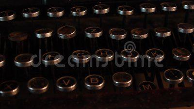 Vintage typewriter keyboards details - use.