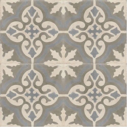 Moroccan Encaustic Cement Pattern Grey Tile gr06 | £ 2.51 ...