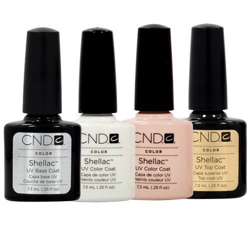CND Shellac French Manicure Kit Base Top Coat Color White Pink Nail Polish Gel - A french manicure is the ultimate in class and finesse for your nails. It is also incredibly easy to do. We are providing you with a basic French Manicure Kit using CND Nail Gels to help you achieve t... - Nail Polish - Beauty - $69.99