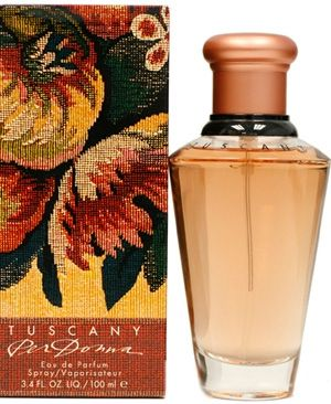 Tuscany Per Donna by Estee Lauder is an Oriental Floral fragrance. The top notes are made of rose, citrus, Mediterranean herbs, hyacinth, plum, apricot and peach. In the heart of the composition there is jasmine, carnation, honeysuckle, orange blossom, violet, ylang-ylang, lily-of-the-valley, rose and peony. Sandalwood, amber, musk, cedar, styrax and vanilla are in the base. - Fragrantica