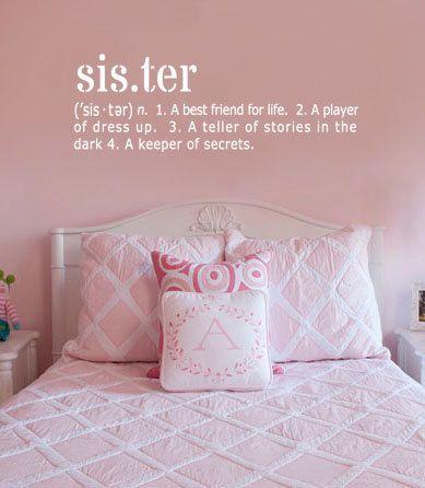 Sister Definition Vinyl Wall Art Decal 10 x by designstudiosigns
