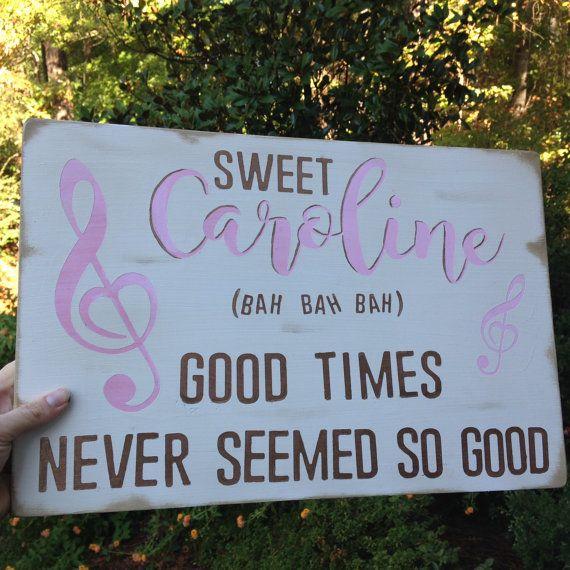 Sweet Caroline lyrics Neil Diamond song baby by HappyHootCreation