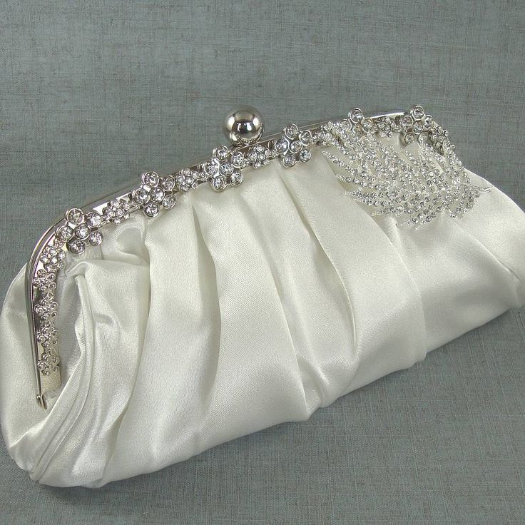 diamante leaf brooch bridal handbag by be.loved bridal | notonthehighstreet.com