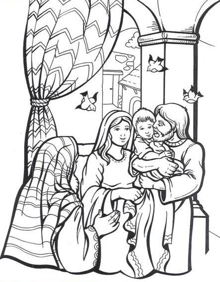 bible coloring pages simeon - photo#18