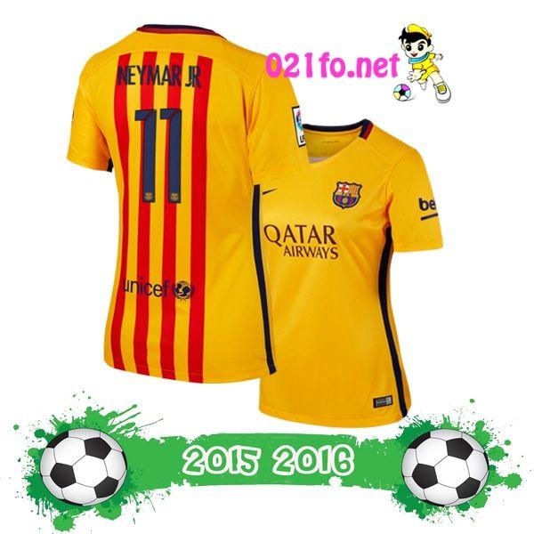 Acheter maillot barcelone extérieur 2016 femme NEYMAR JR Col Arrondi football cher