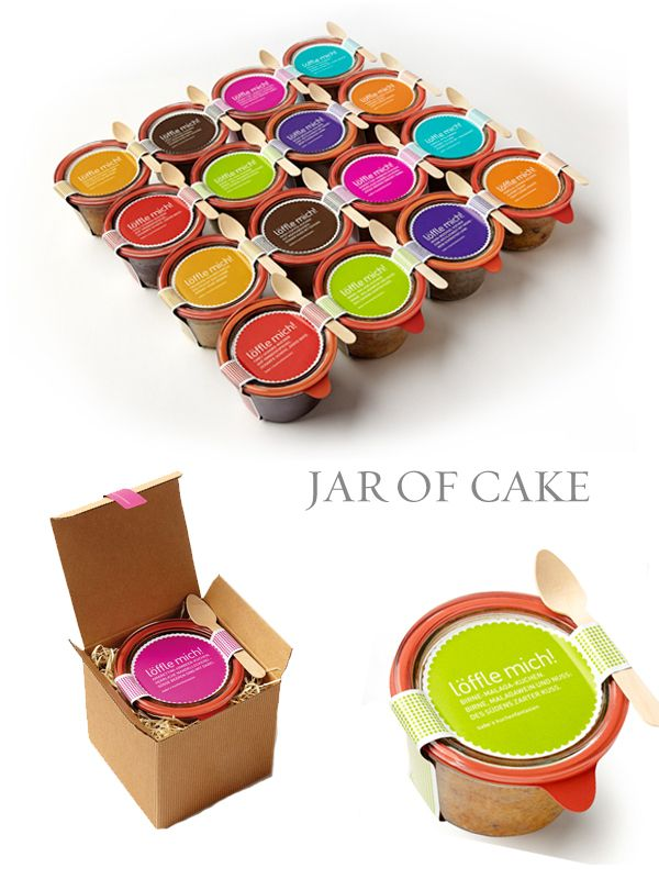 Jar of Cake #Packaging #design. Who doesn't like cake? PD