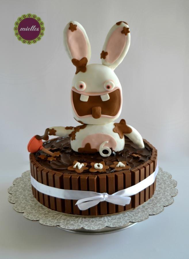 Raving rabbids lapins cretins cake by miettes d co gateau pinterest g teaux d - Jeux de decoration de gateau ...