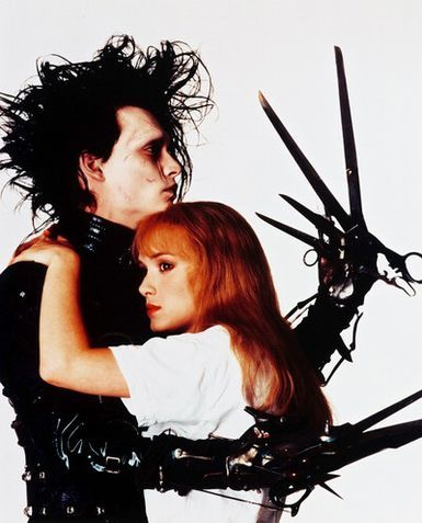 Johnny Depp and Winona Ryder as Edward and Kim - Edward Scissor Hands-I loved this movie as a child.